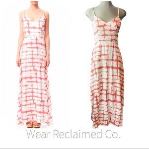 BB DAKOTA Finley Flowy White & Coral Maxi Dress